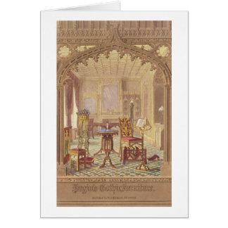 Pugin's Gothic Furniture, by Augustus Charles Pugi Card