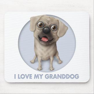 Pugle 2 - Love My Granddog Mouse Pad