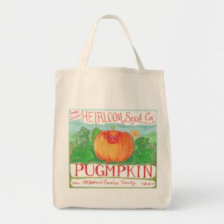 Pugmpkin grocery bag