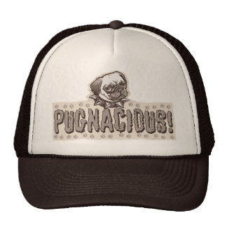 Pugnacious Pug by Mudge Studios Mesh Hats