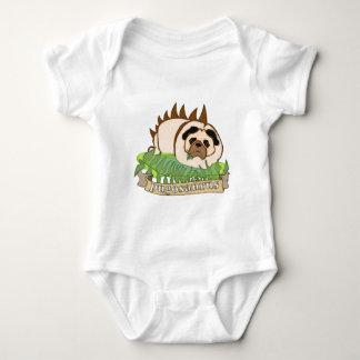 Pugosaurus Baby Bodysuit