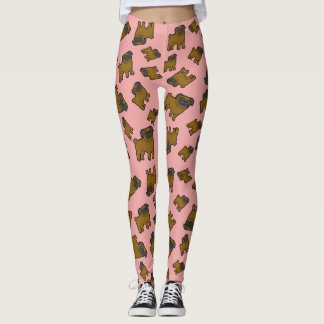 Pugs #6 Pink Leggings
