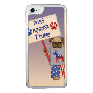 Pugs against Trump Carved iPhone 8/7 Case