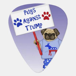 Pugs against Trump Guitar Pick