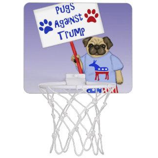 Pugs against Trump Mini Basketball Hoop