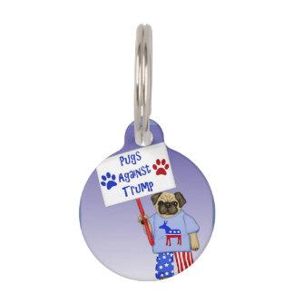 Pugs against Trump Pet Name Tag