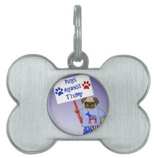 Pugs against Trump Pet Tag