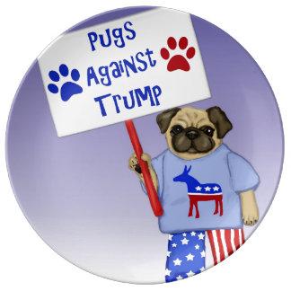 Pugs against Trump Plate