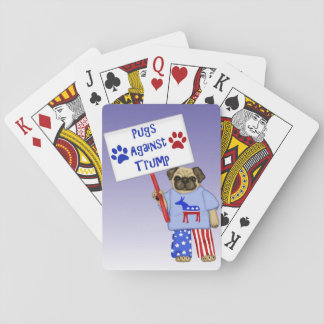 Pugs against Trump Playing Cards
