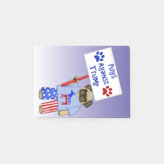 Pugs against Trump Post-it Notes