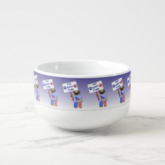 Pugs against Trump Soup Mug