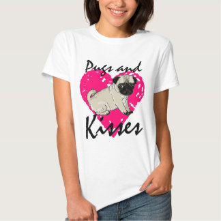 Pugs And Kisses Ladies Shirt