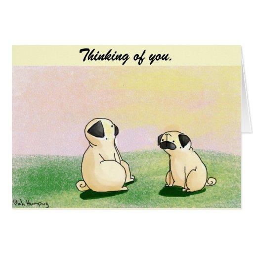 Pugs at Sunset Greeting Card