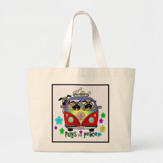 Pugs for Peace Tote Bag