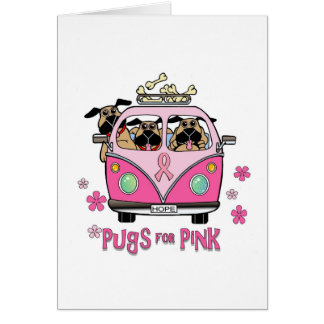 Pugs for Pink Note Card