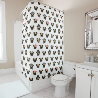 Pugs in Disguise Shower Curtain