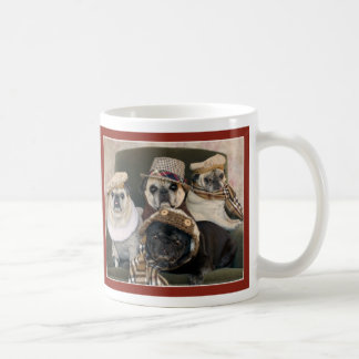 Pugs in Plaid Pug Mug by Pugs and Kisses