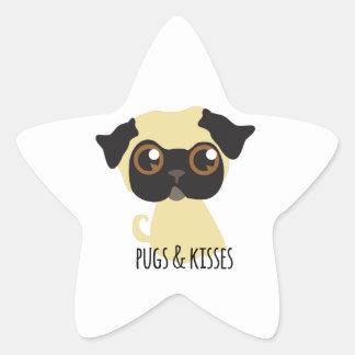Pugs Kisses Sticker