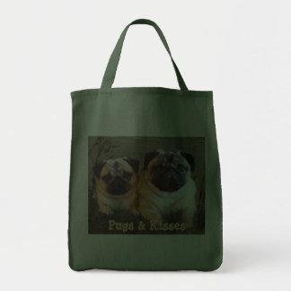 Pugs Kisses Tote Bag