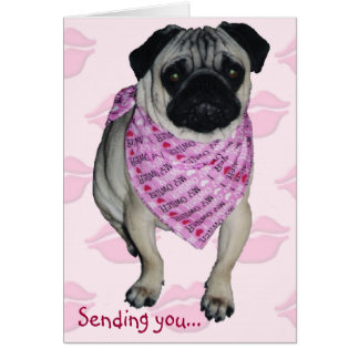 Pugs & Kisses Valentine's Day Greeting Card
