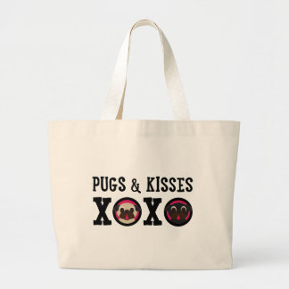 Pugs & Kisses XOXO Canvas Pug Tote
