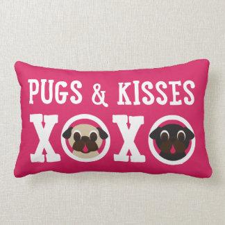 Pugs & Kisses XOXO Pink Lumbar Pillow