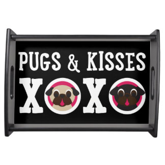 Pugs & Kisses XOXO Pug Serving Tray