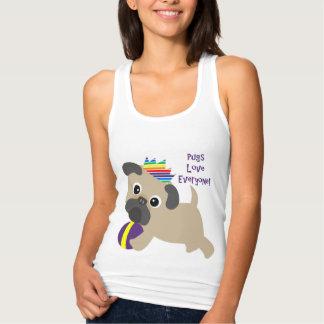 Pugs Love Everyone Singlet