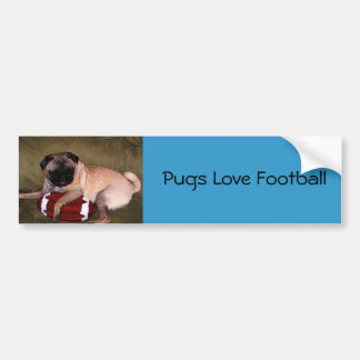 Pugs Love Football! Bumper Sticker