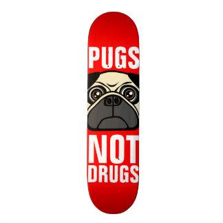Pugs Not Drugs 20.6 Cm Skateboard Deck