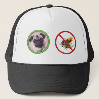 Pugs not drugs baseball hat.png trucker hat
