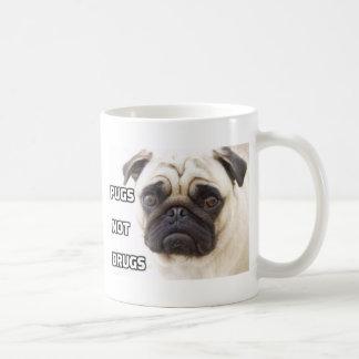 Pugs Not Drugs Basic White Mug
