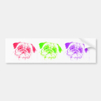 Pugs not Drugs Bumper Stickers