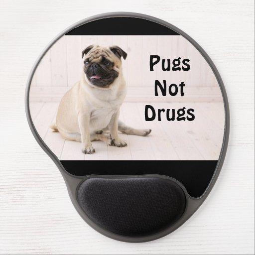 Pugs Not Drugs Gel Mousepad