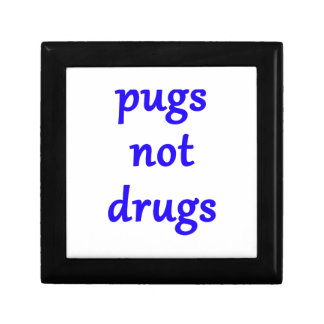 pugs not drugs gift box