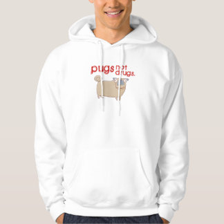 Pugs not drugs hoodie / hooded sweatshirt