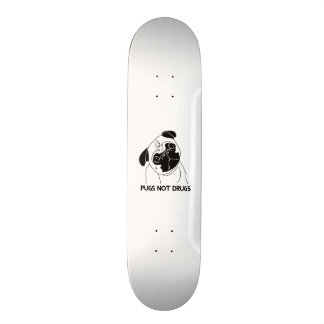 Pugs Not Drugs Skateboard Deck
