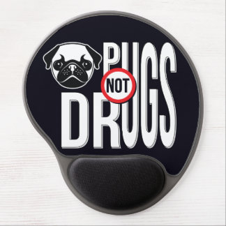 Pugs Not Drugs Typography Graphics Gel Mousepad