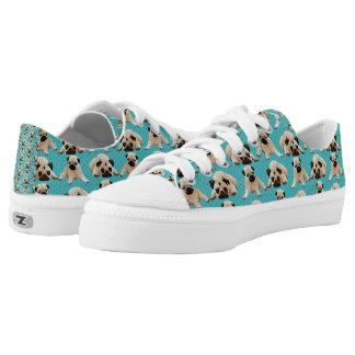 Pugs on Aqua Printed Shoes