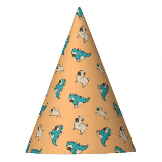 Pugs' Pattern, Dogs Rule! Party Hat