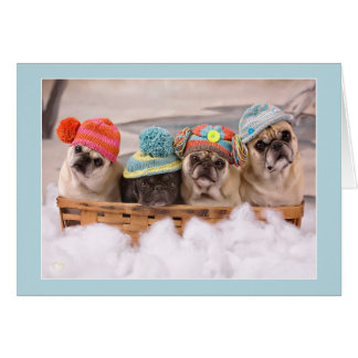"Pugs ""Peace to You"" Holiday Cards Pugs and Kisses"