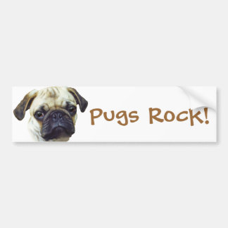 Pugs-Rock Bumper Sticker