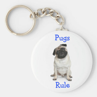 Pugs Rule Key Chain