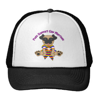 Pugs Support Gay Marriage Tees and Gifts Trucker Hat