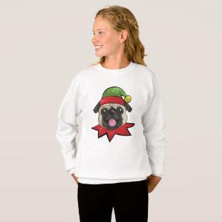 Pugs Sweatshirt Funny Elf Christmas Gift Shirt