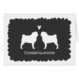 Pugs Wedding Congratulations Card