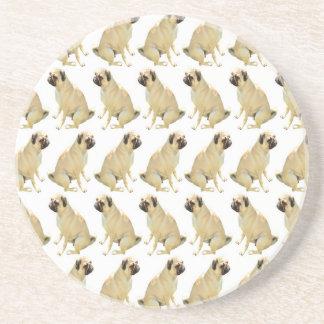Pugs White Coaster