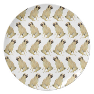 Pugs White Plate