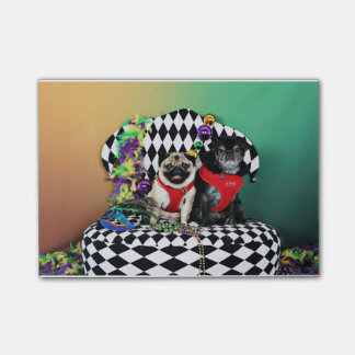 Pugsgiving Mardi Gras 2015 - Dipity & Louie - Pugs Post-it® Notes