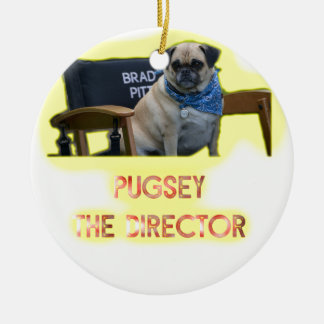 Pugsley The Director Ceramic Ornament